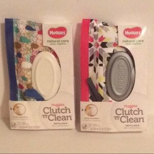 Huggies Other - SET OF 2 HUGGIES NATURAL CARE WIPES IN CLUTCH